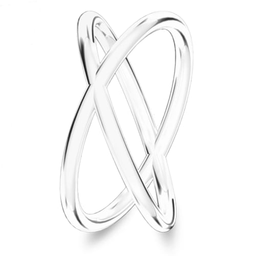 Image of   Spinning Jewelry ring - Soulmate - Rhodineret sterlingsølv