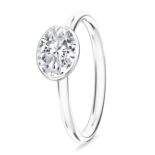 Image of   Spinning Jewelry ring - Sparkling - Rhodineret sterlingsølv