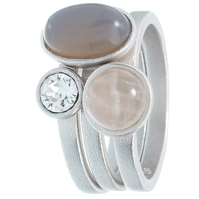 Image of   Spinning Jewelry ring - Summer Love - Rhodineret sterlingsølv