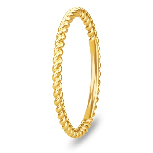 Image of   Spinning Jewelry ring - Twisted - Forgyldt sterlingsølv