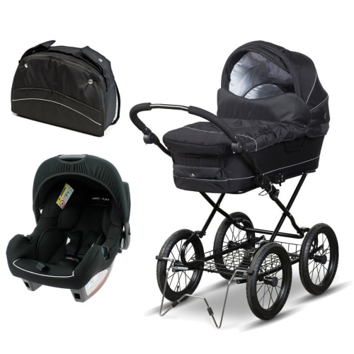 Startpakke BabyTrold Cozy barnevogn & Premium autostol