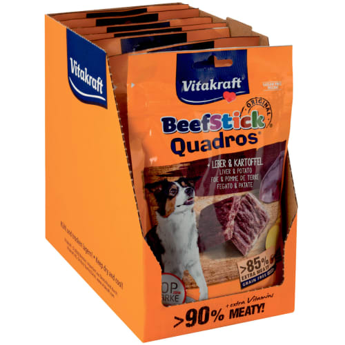 Vitakraft hundesnack - Beef Stick Quadros - 7 stk.