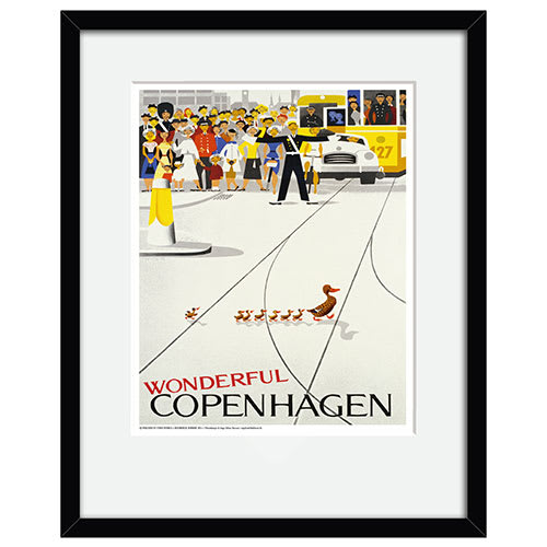 Image of   Wonderful Copenhagen plakat i ramme - af Viggo Vagnby