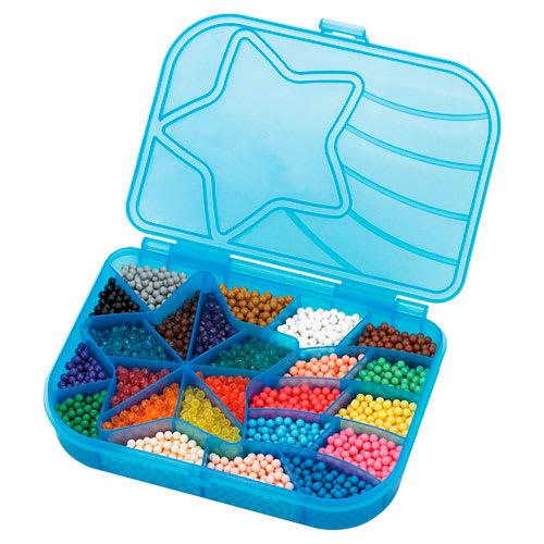 Praktisk æske med 2.400 perler i 24 farver