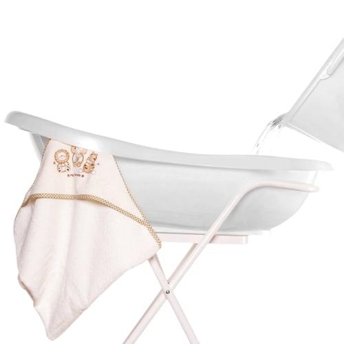 Babybadekar med skridsikkert underlag og bundprop