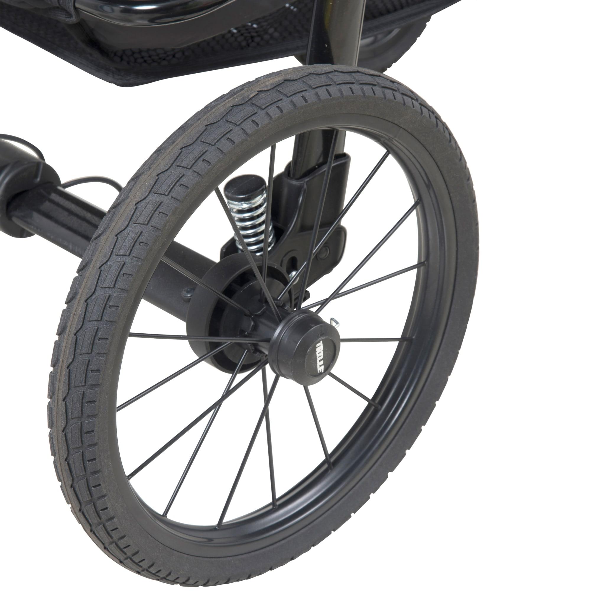 1 stk. punktérfrit og massivt hjul - Passer til BabyTrold barnevogne