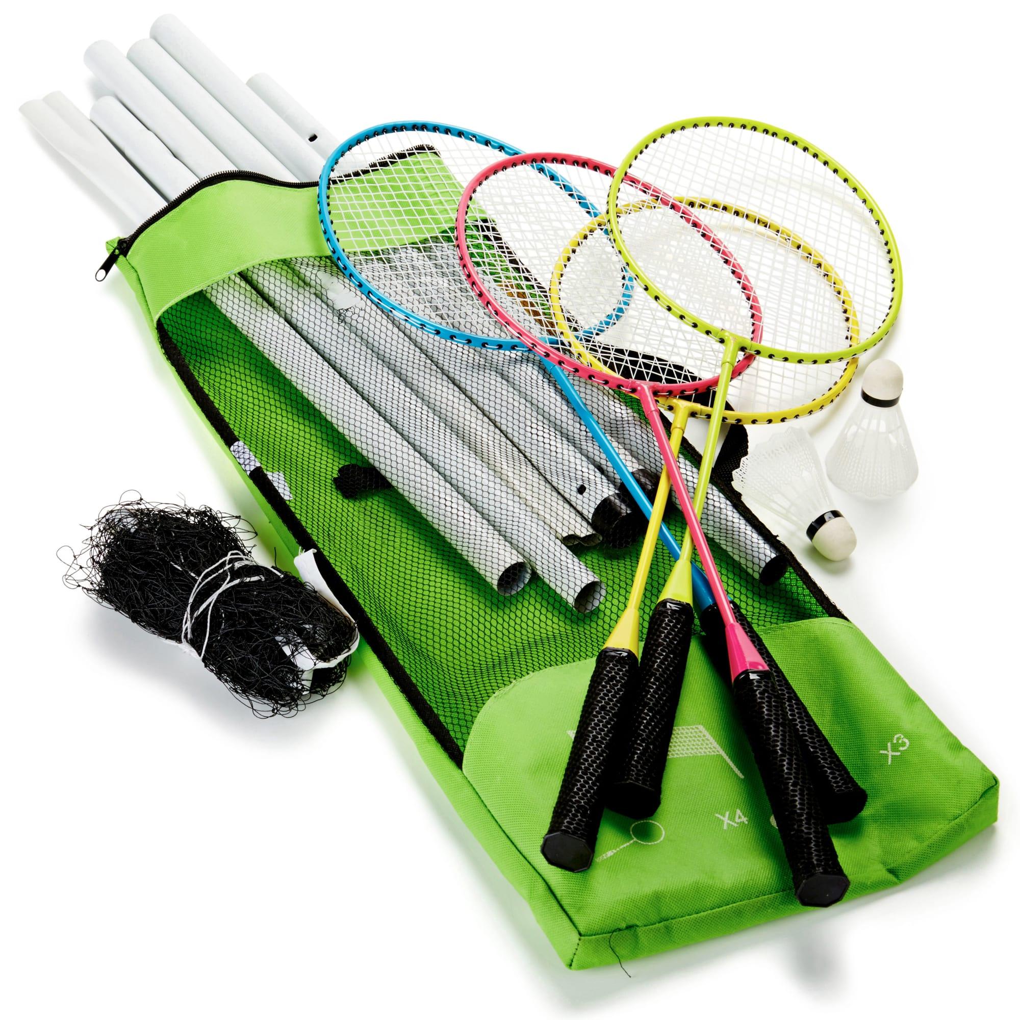Med ketsjere, bolde, net og opbevaringstaske