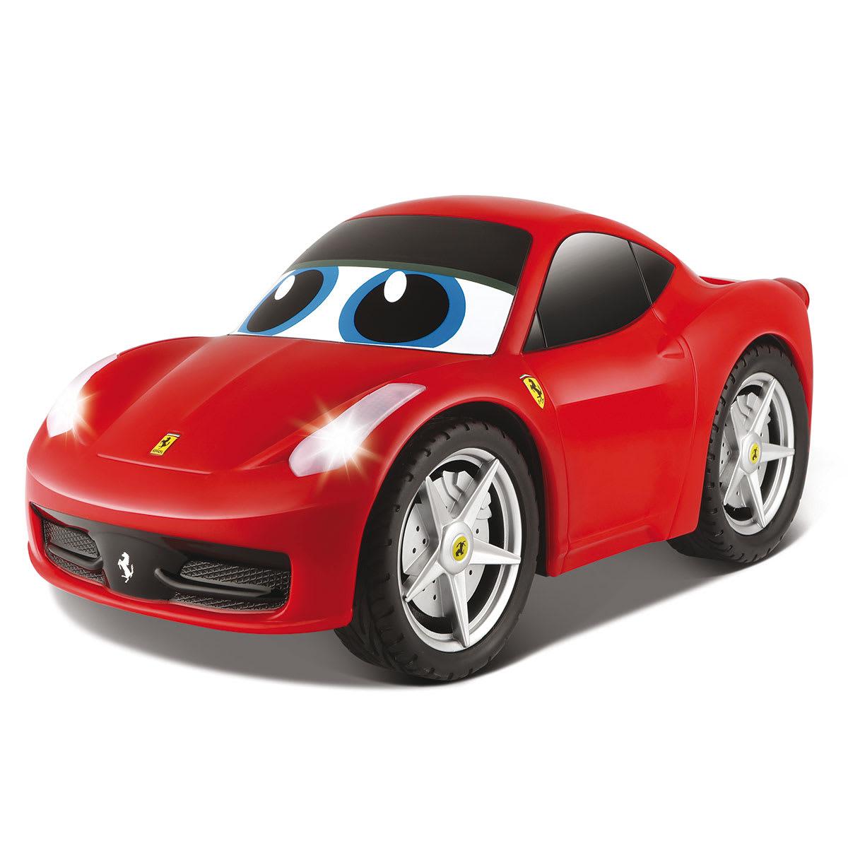 Sej Ferrari med lys og lyd og fjernbetjening formet som rat
