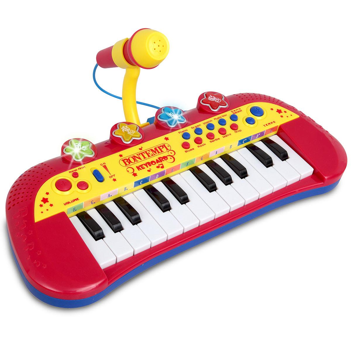 Med 24 tangenter, demosange, lydeffekter og rytmer