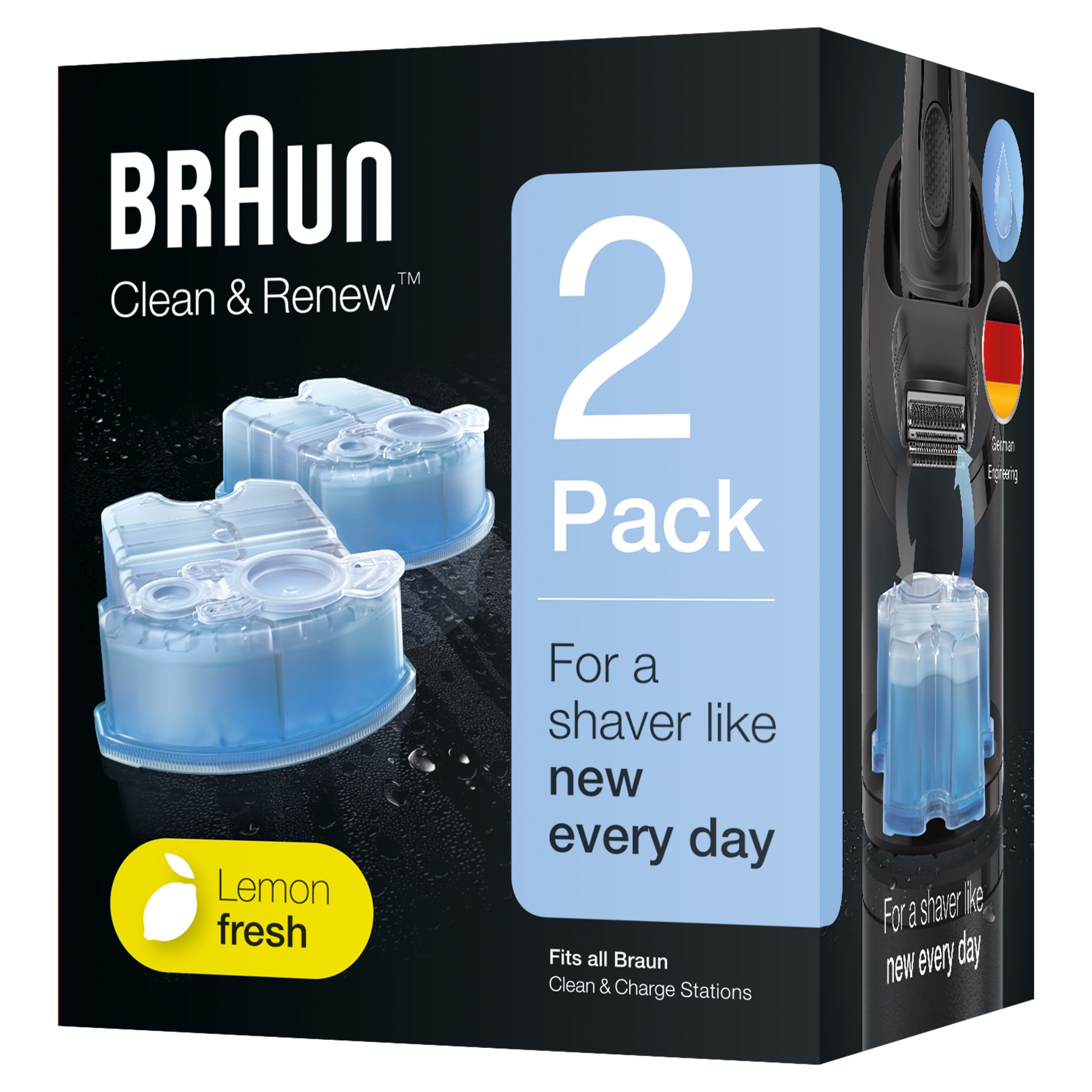 Passer til alle Brauns Clean & Charge rensestationer