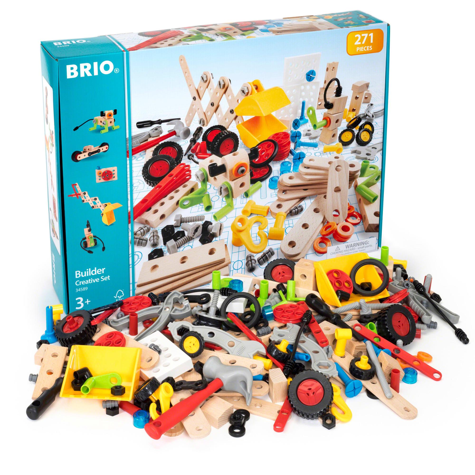 Kreativt sæt med værktøj, dele og inspiration til at bygge løs