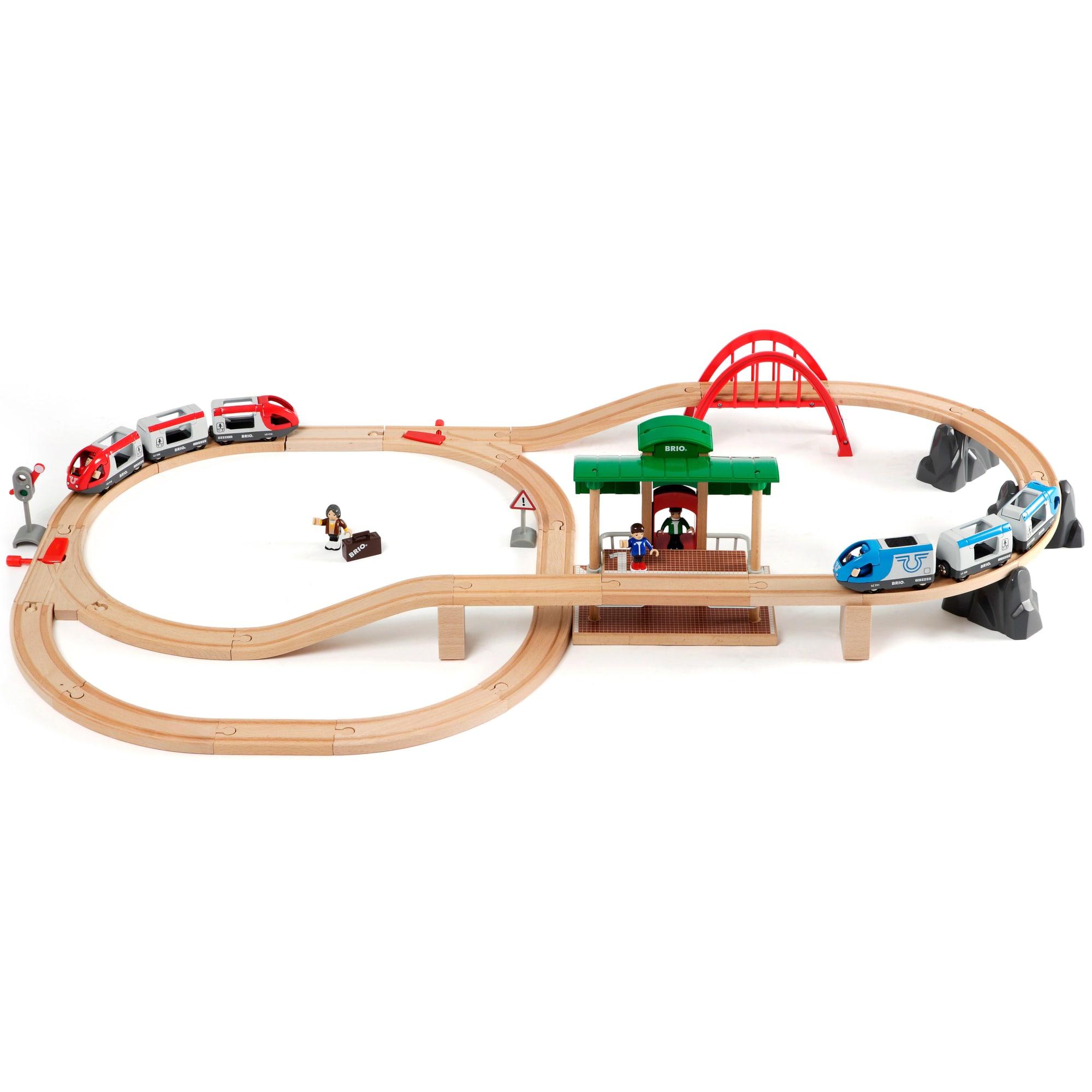 42 dele - Stor togbane med 2 batteridrevne togsæt