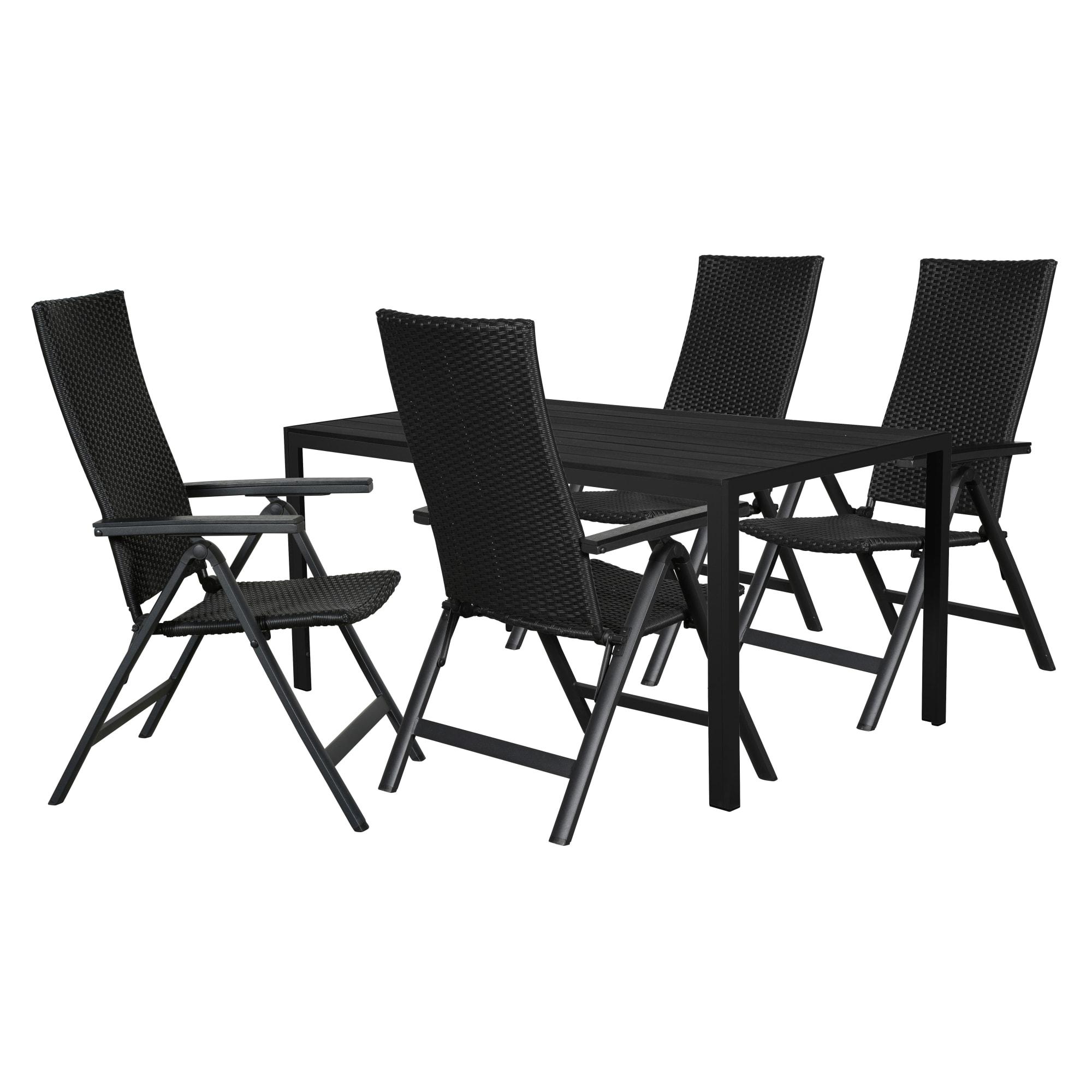 Bord (L 150 cm) og positionsstole