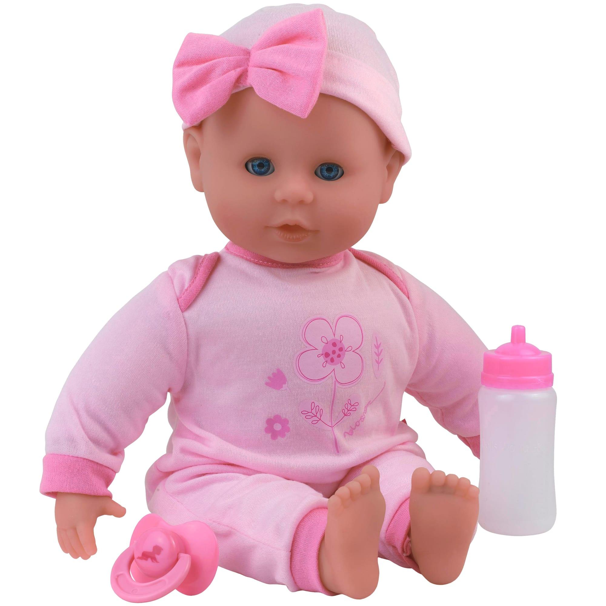 H 38 cm - Med 21 forskellige babylyde - Inkl. sutteflaske og sut