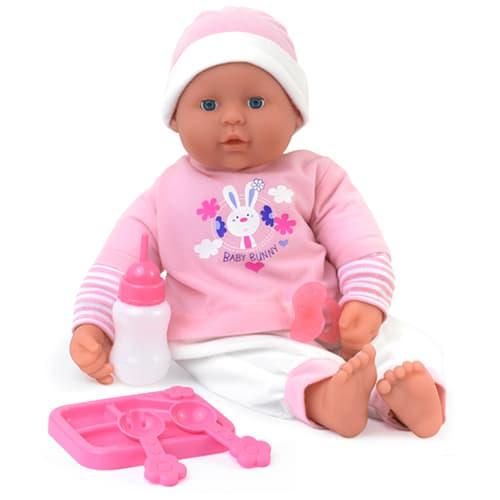 46 cm - Blød dukke, der kan sige 21 babylyde - Inkl. tilbehør