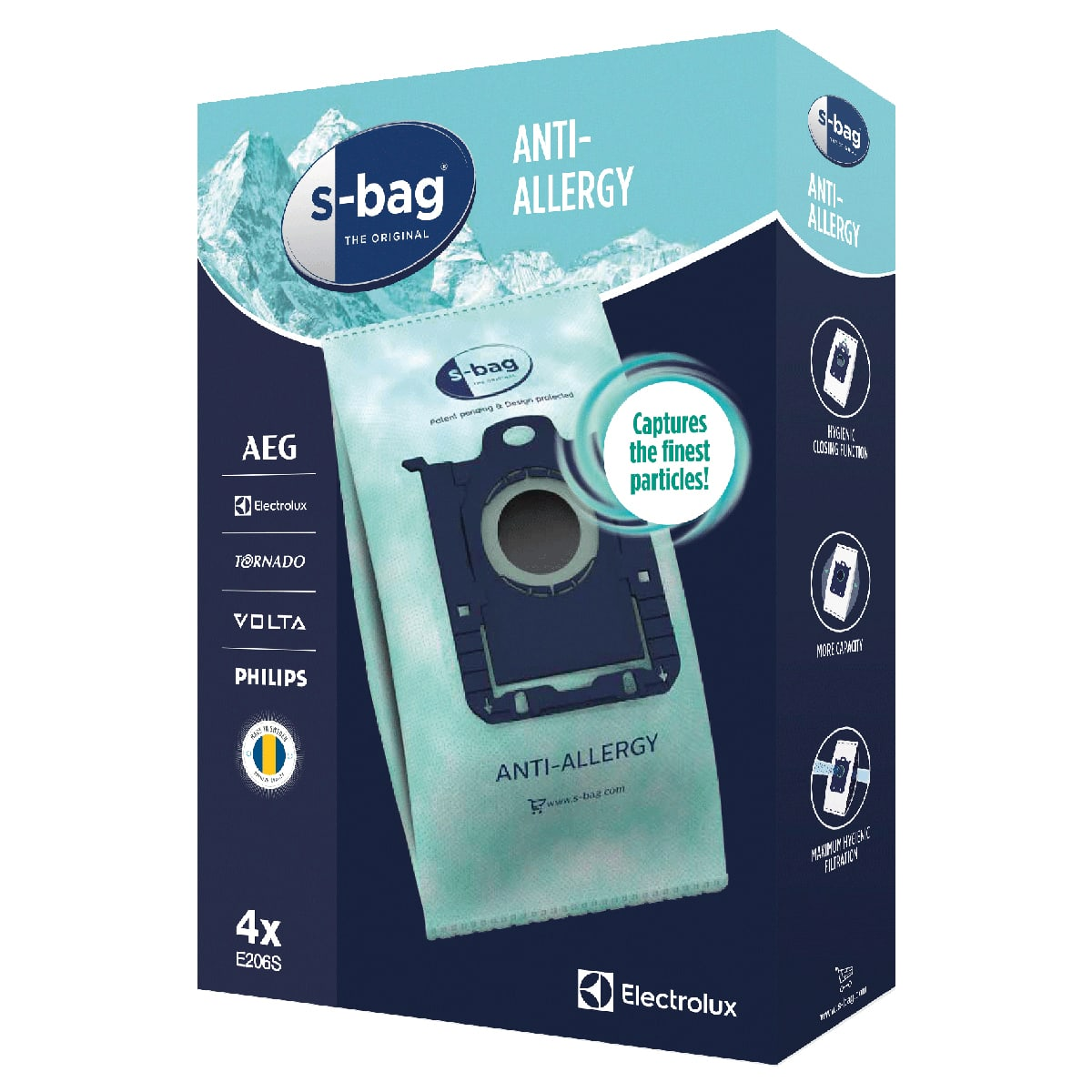 s-bag Anti-allergy støvsugerposer (3,5 liter)