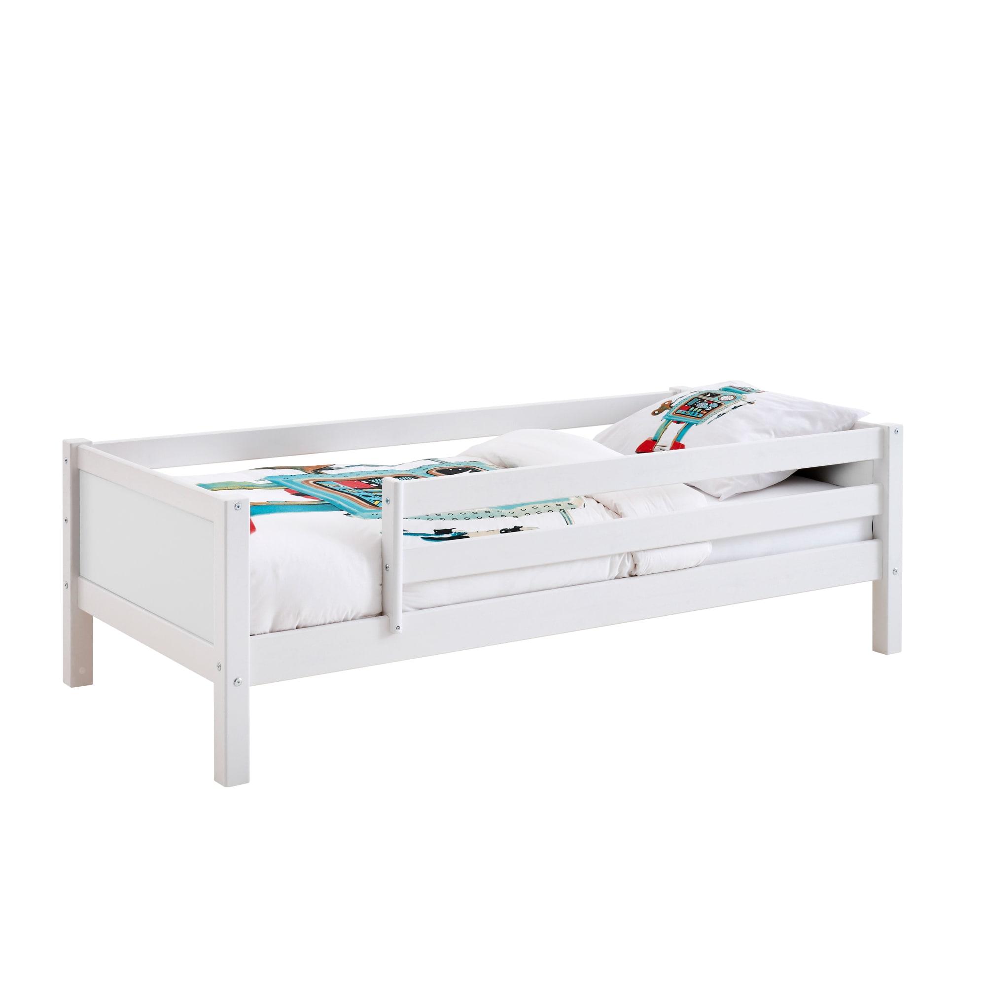 90 x 200 cm - Med sengehest på begge sider og hvide gavle