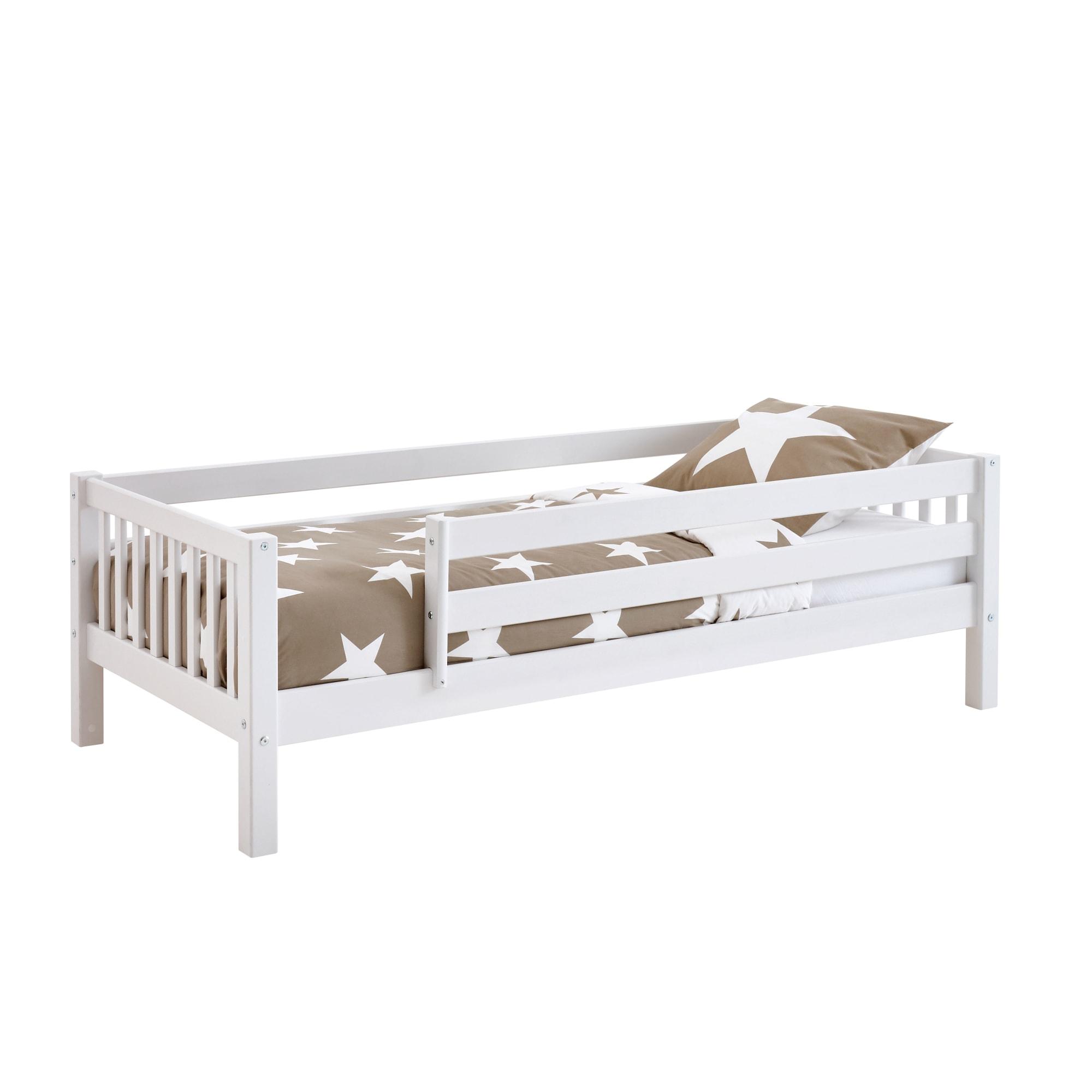 90 x 200 cm - Med sengehest på begge sider og sprossede gavle