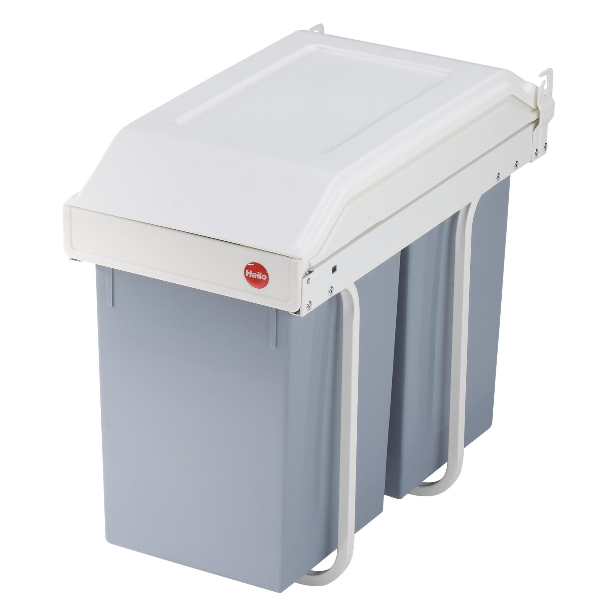 2 x 14 liter - Praktisk affaldssortering til montering i køkkenskabet