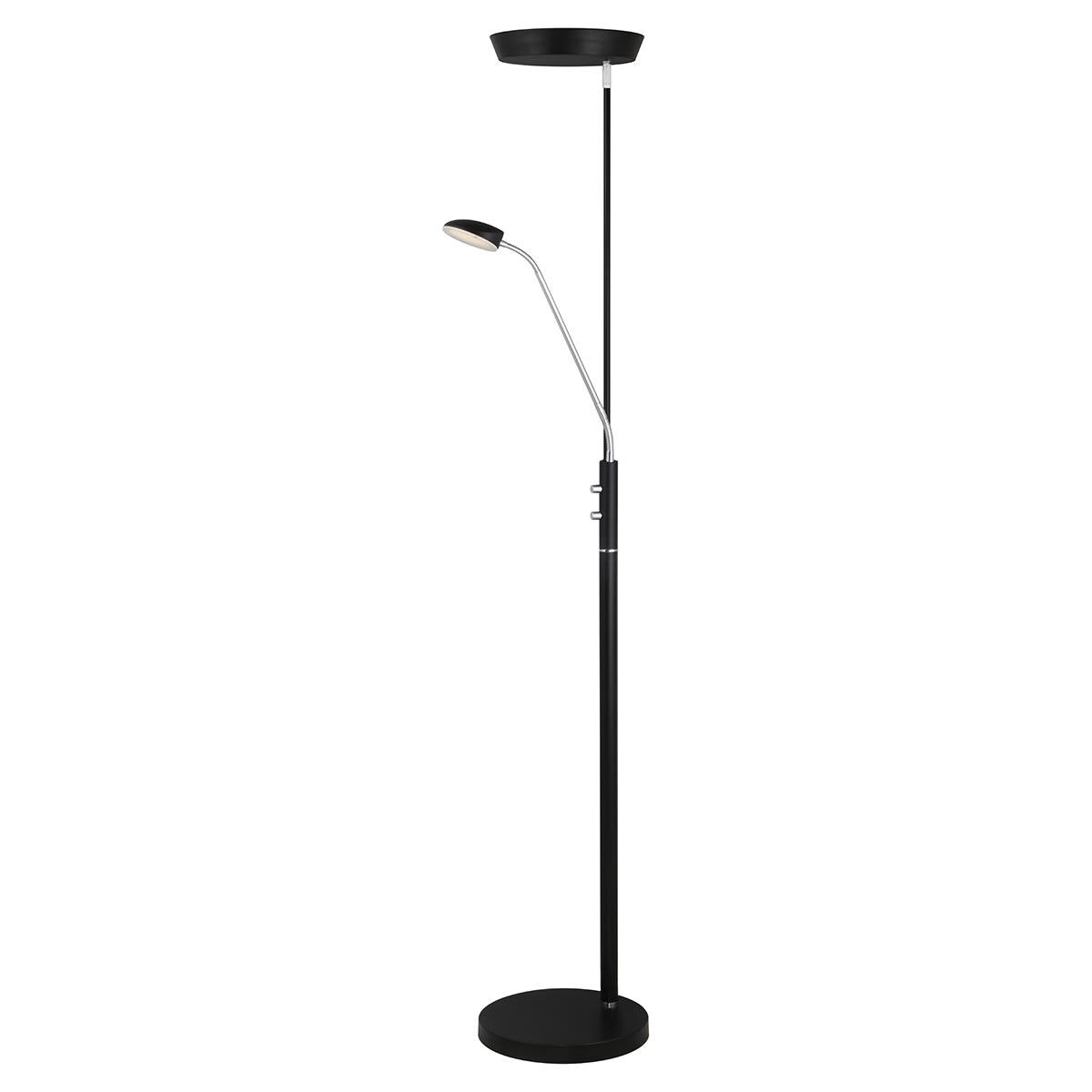 H 180 cm - Perfekt læselys - Med lysdæmper og uplight
