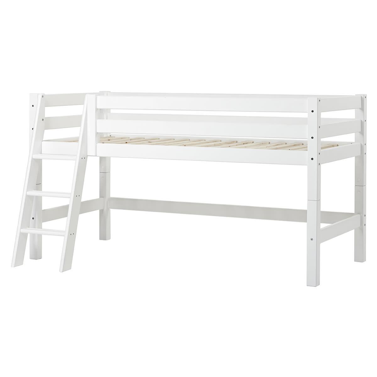 90 x 200 cm - Svanemærket halvhøj seng med livstidsgaranti