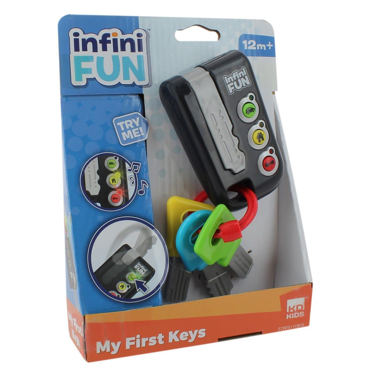 Nøgler med lys og lyd til den lille fartbølle