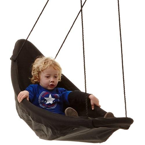 Sjov gynge som kan bruges siddende eller liggende