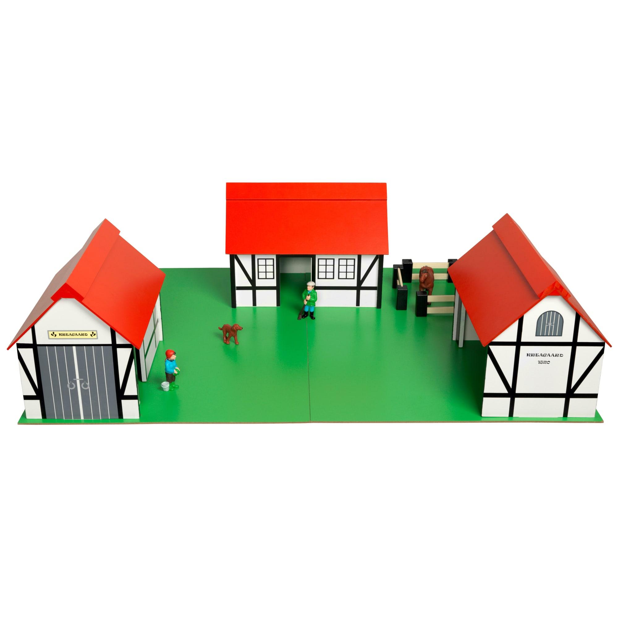 Med flytbare huse og sammenklappelig plade