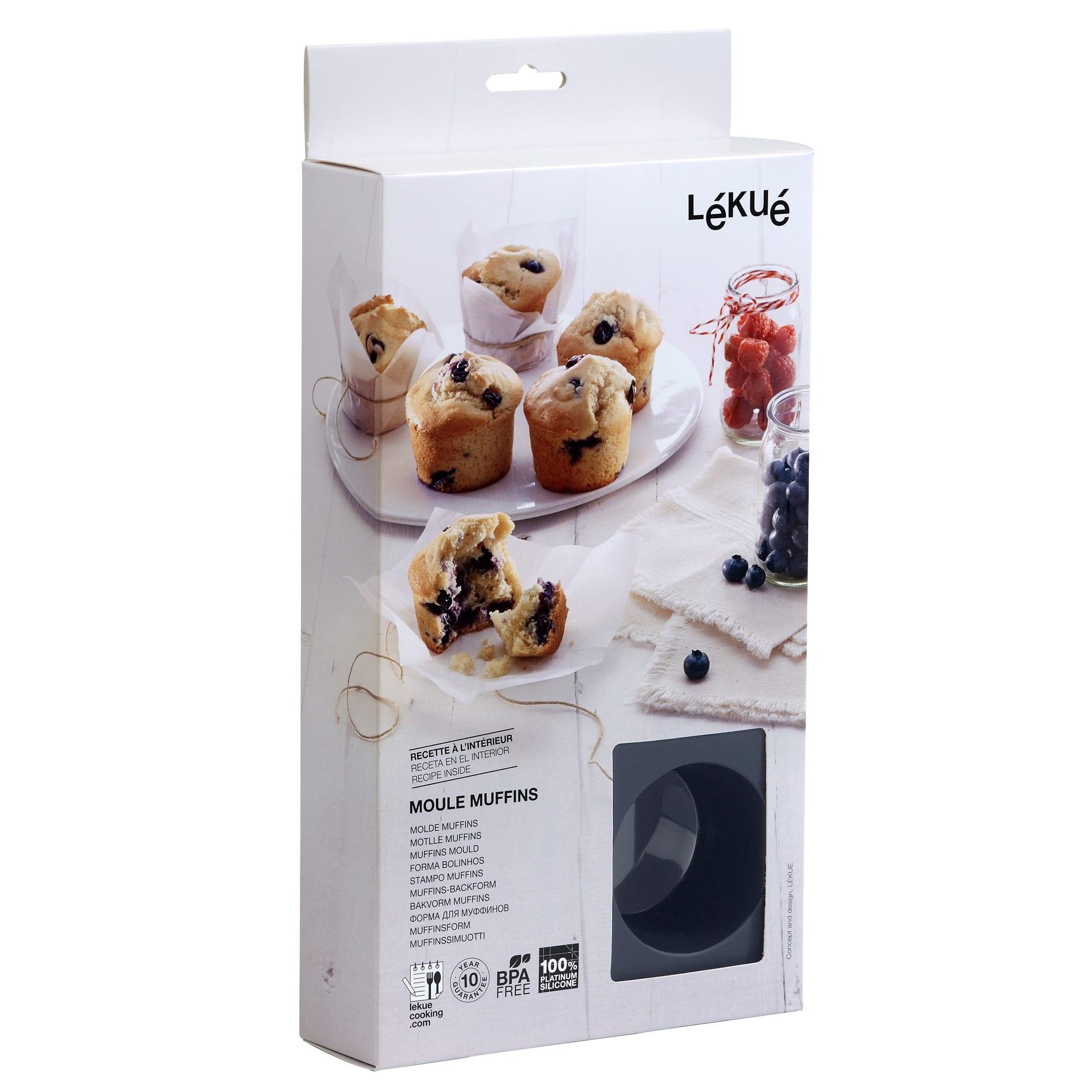 Lav nemt 6 lækre muffins i den fleksible og antiklæbende bageform