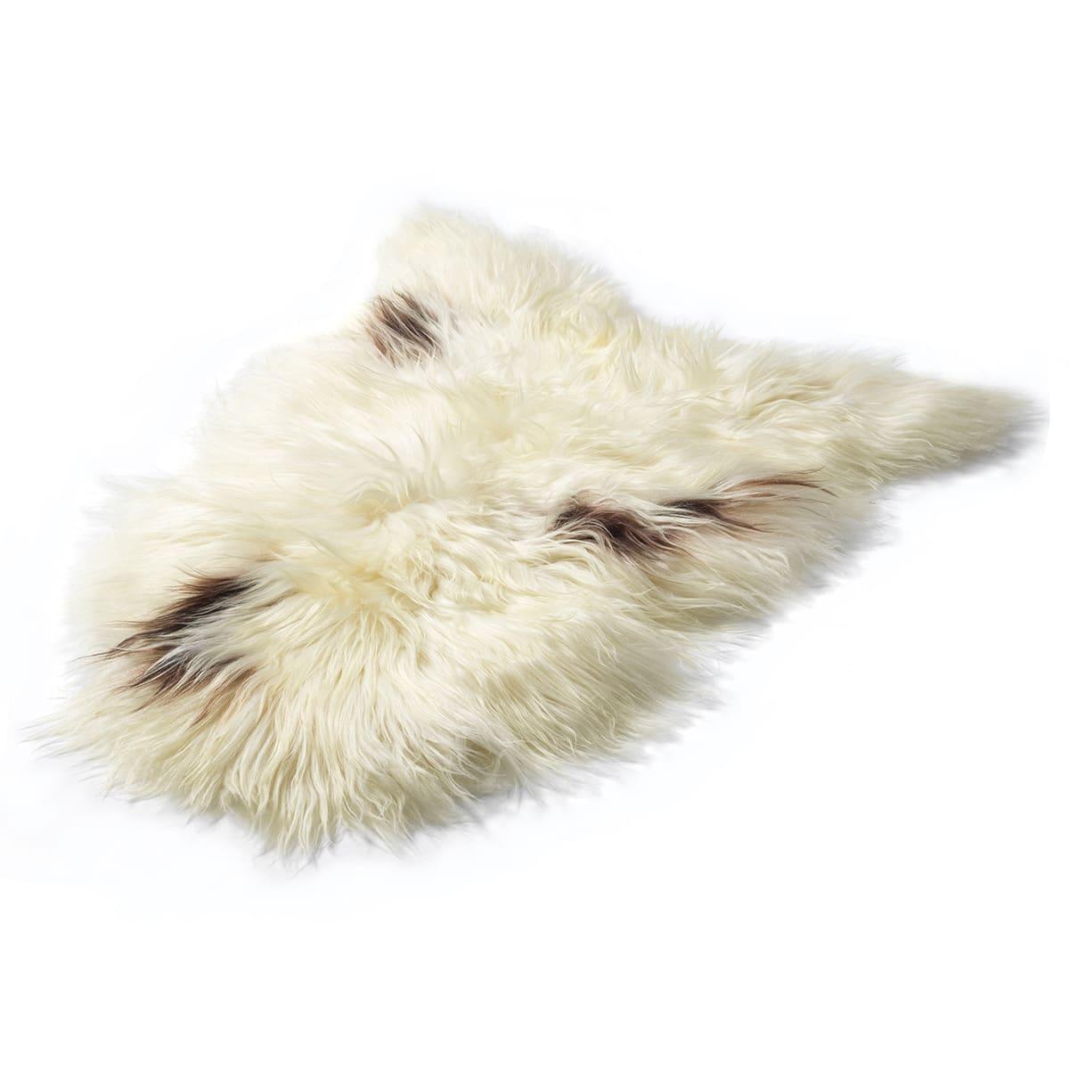 Langhåret lammeskind med naturligt farvespil