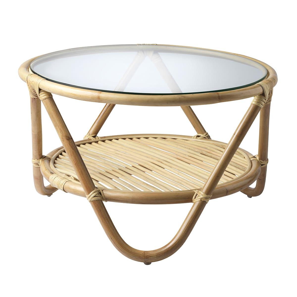 Ø 65 cm - Lavet i dekorativt rattan