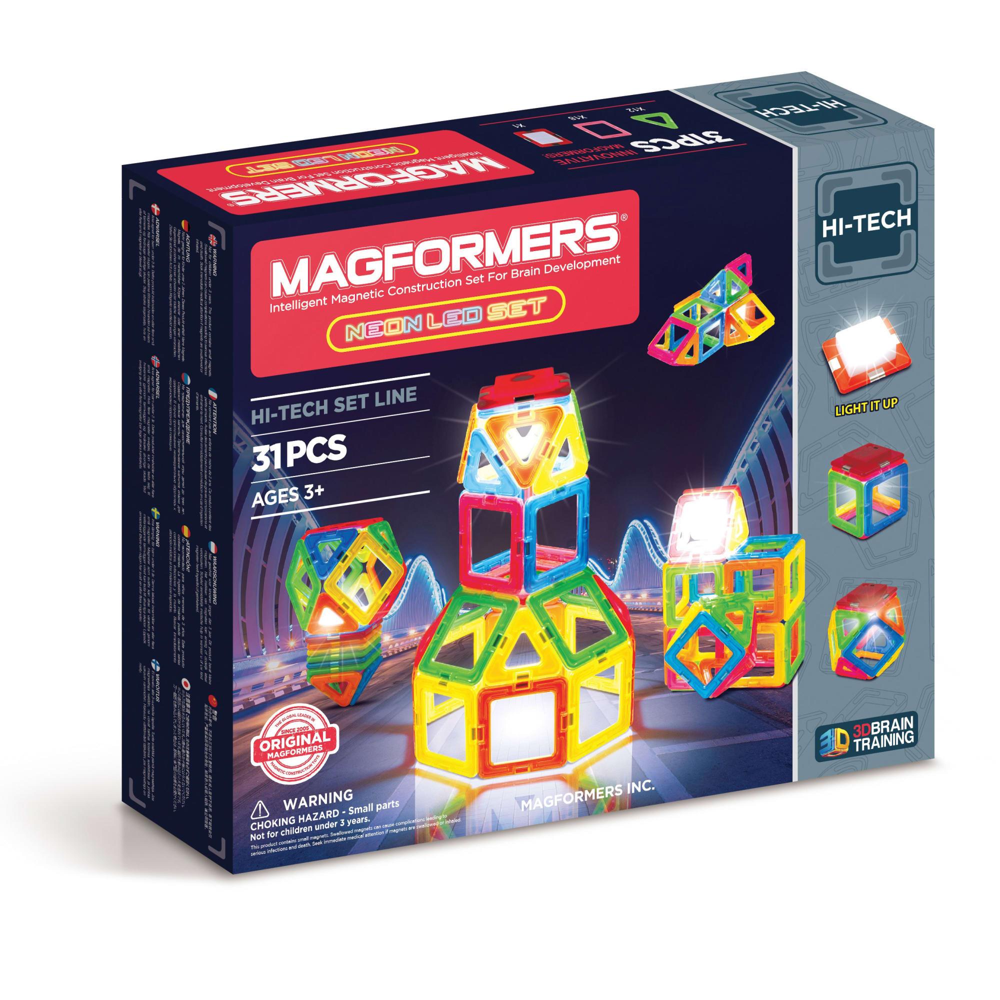 Kreativt magnetisk legetøj - Byg figurer i 3D og lys dem op