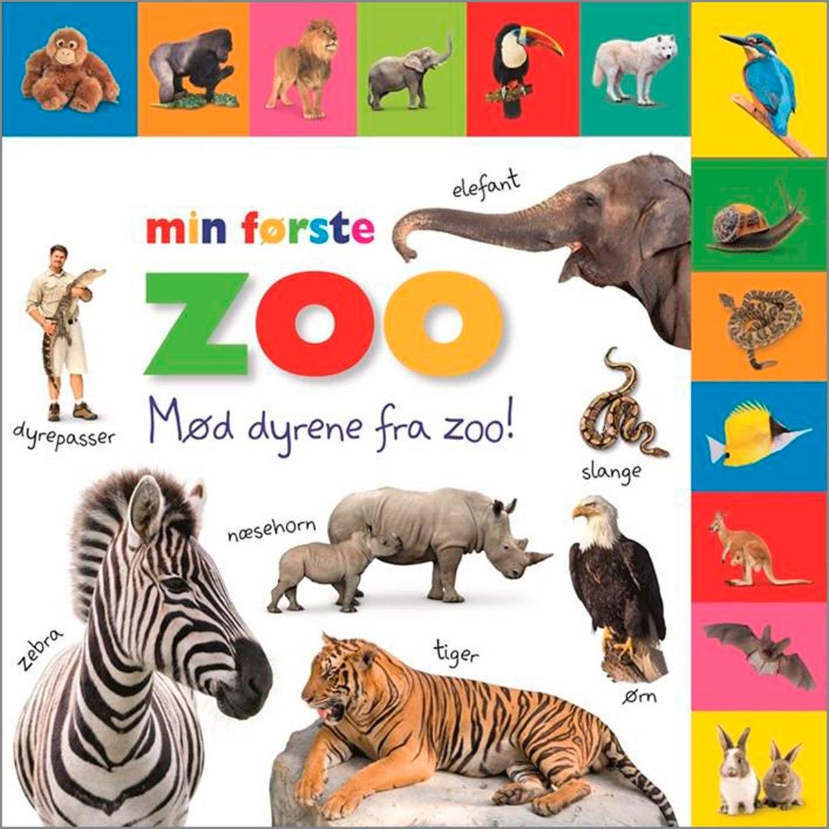 En god begynderordbog til små børn om dyrene i zoo