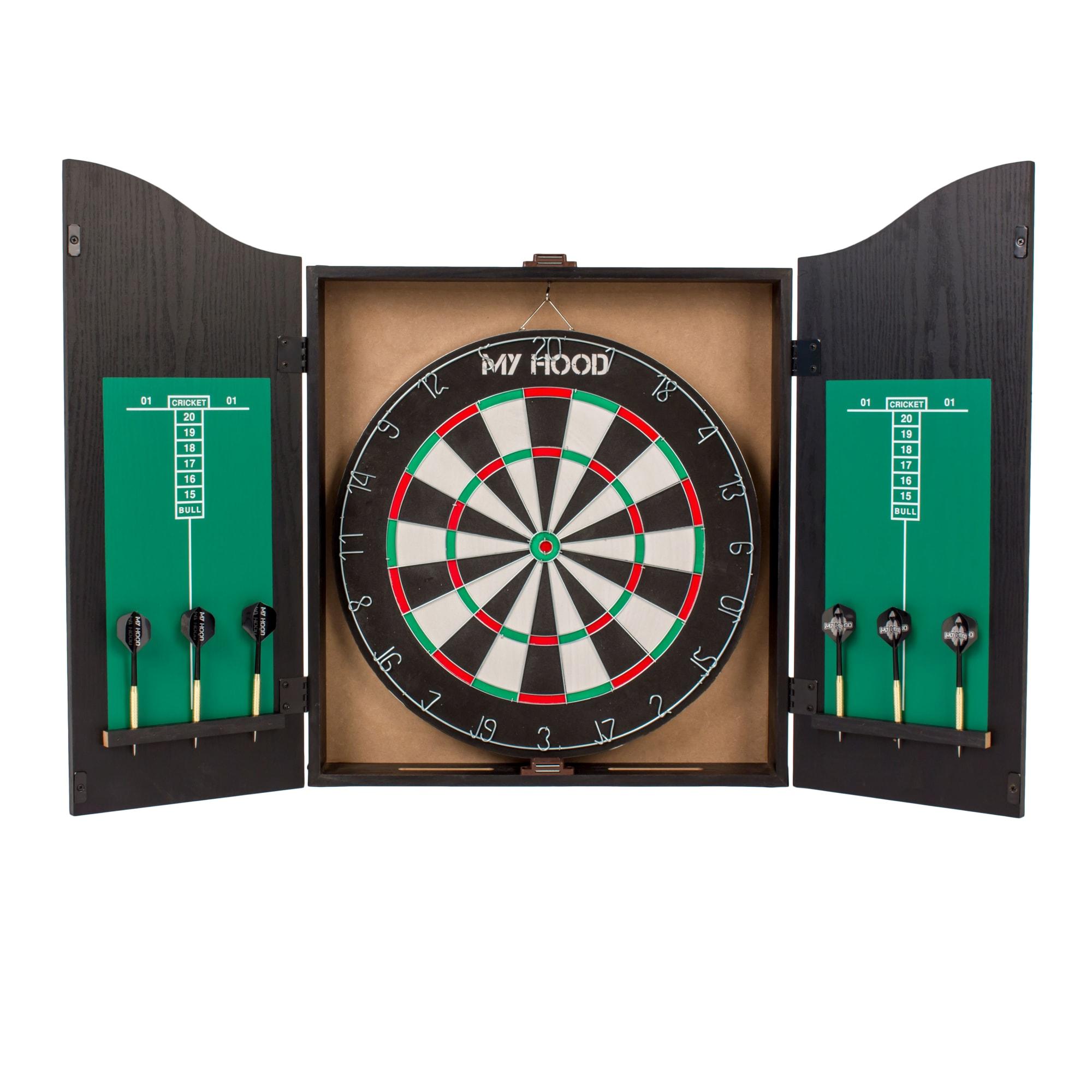 Inkl. 6 pile - Vendbar skive med Target Game på den anden side