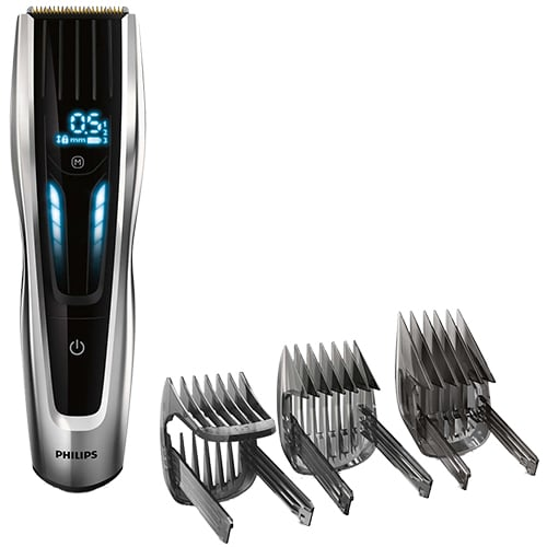 Inkl. 3 hårtrimmerkamme - Kraftig motor til tykt hår