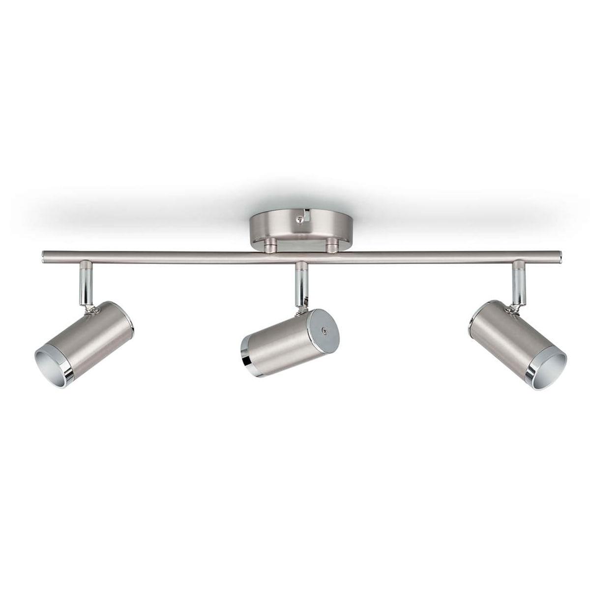 Med 3 justerbare spots og indbygget LED-lamper