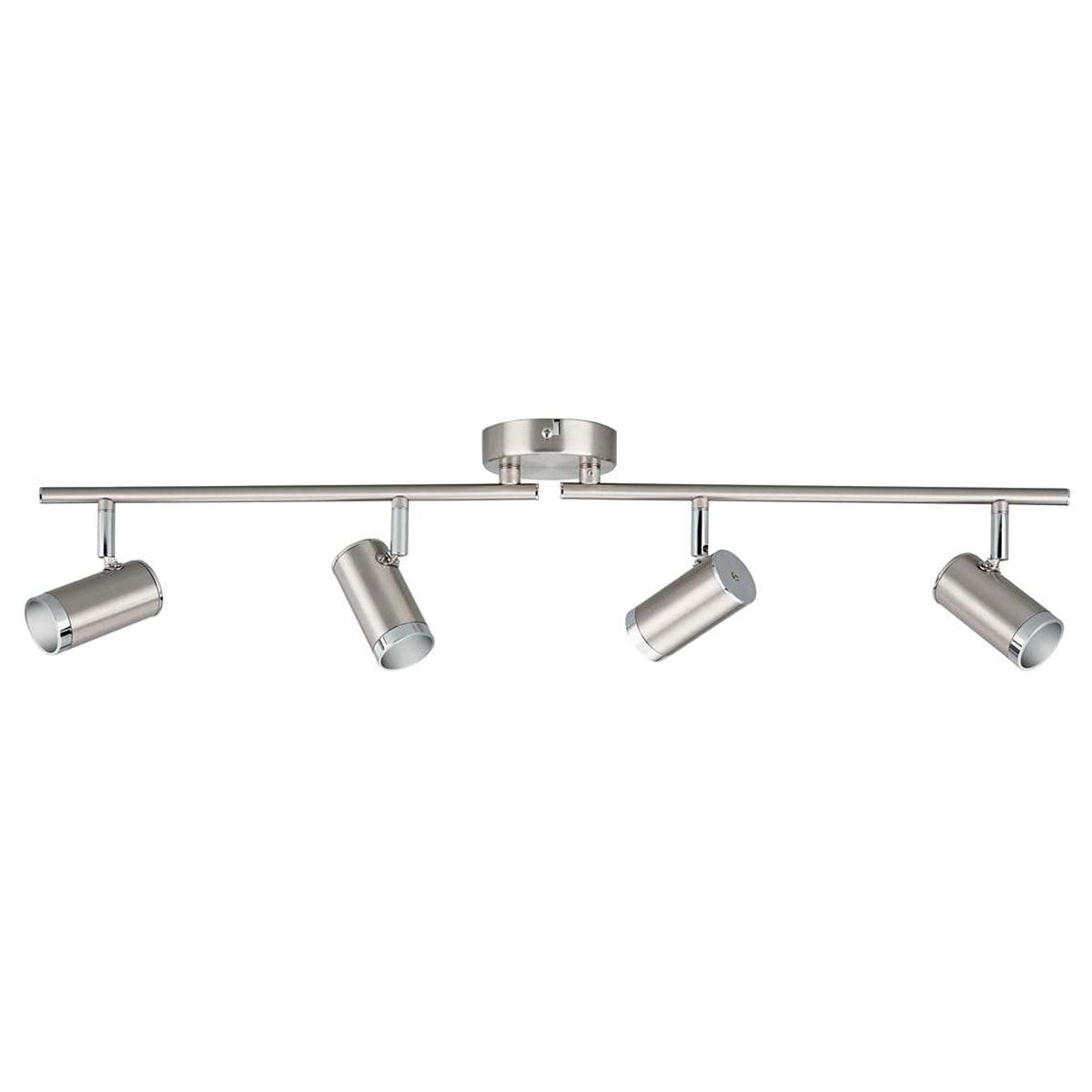 Med 4 justerbare spots og indbygget LED-lamper