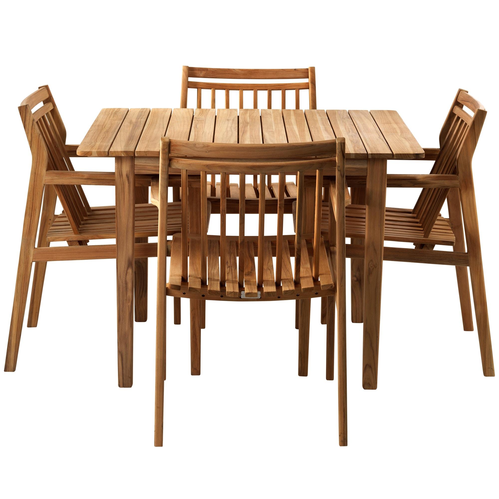 FDB Møbler - Udtræksbord og 4 stole i teak