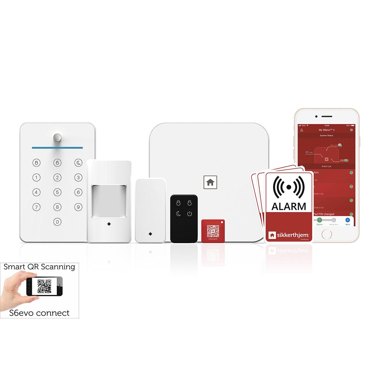 Lejlighedspakken - Inkl. alarm, sensor, nøglebrik, fjernbetjening m.m.