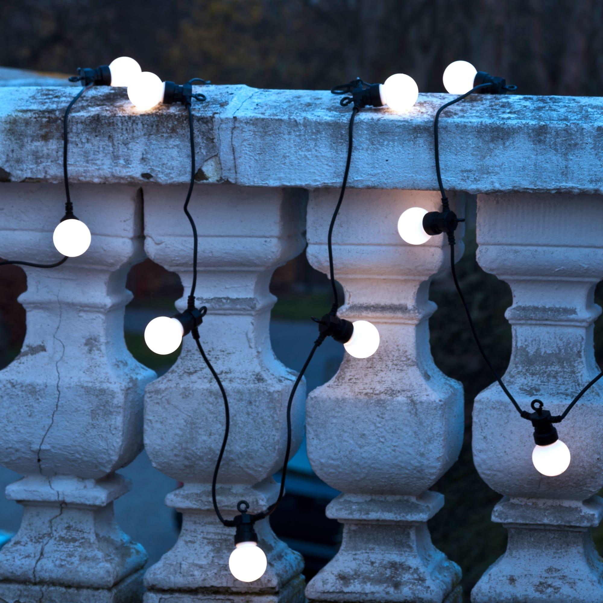 3 meter sort ledning - 10 LED-pærer