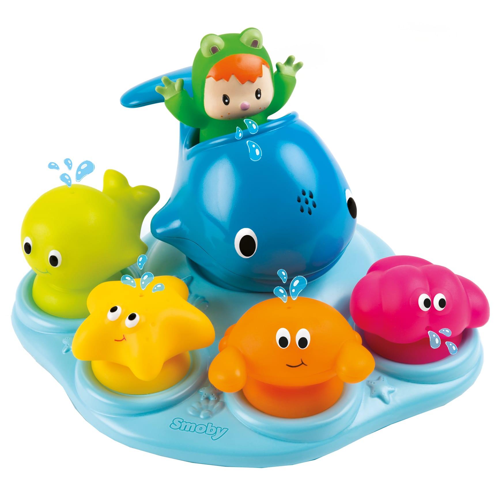 Sprøjtefigurer og vandkande-hval