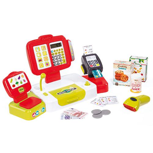 Med kreditkortlæser, scanner, vægt og regnemaskine