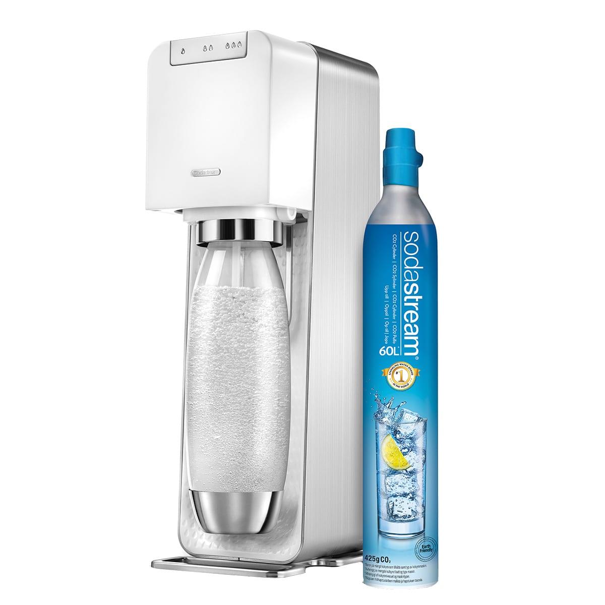Elektrisk Sodastream maskine med 3 kulsyreniveauer