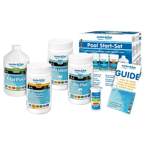 Indeholder alle plejemidler til at holde poolen ren