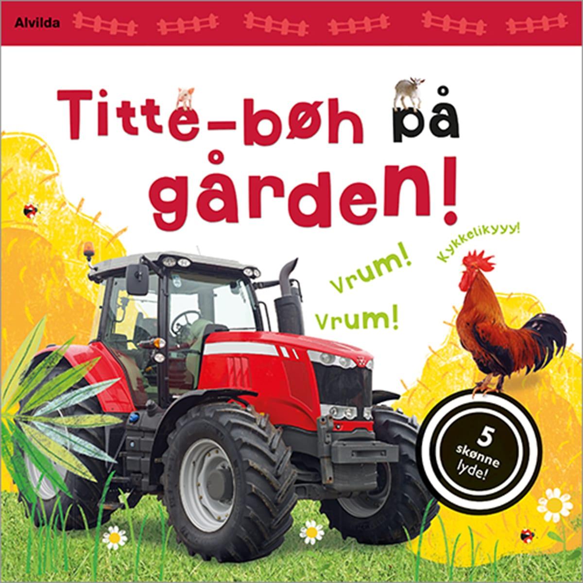 Skøn bog med 5 dejlige lyde fra gården