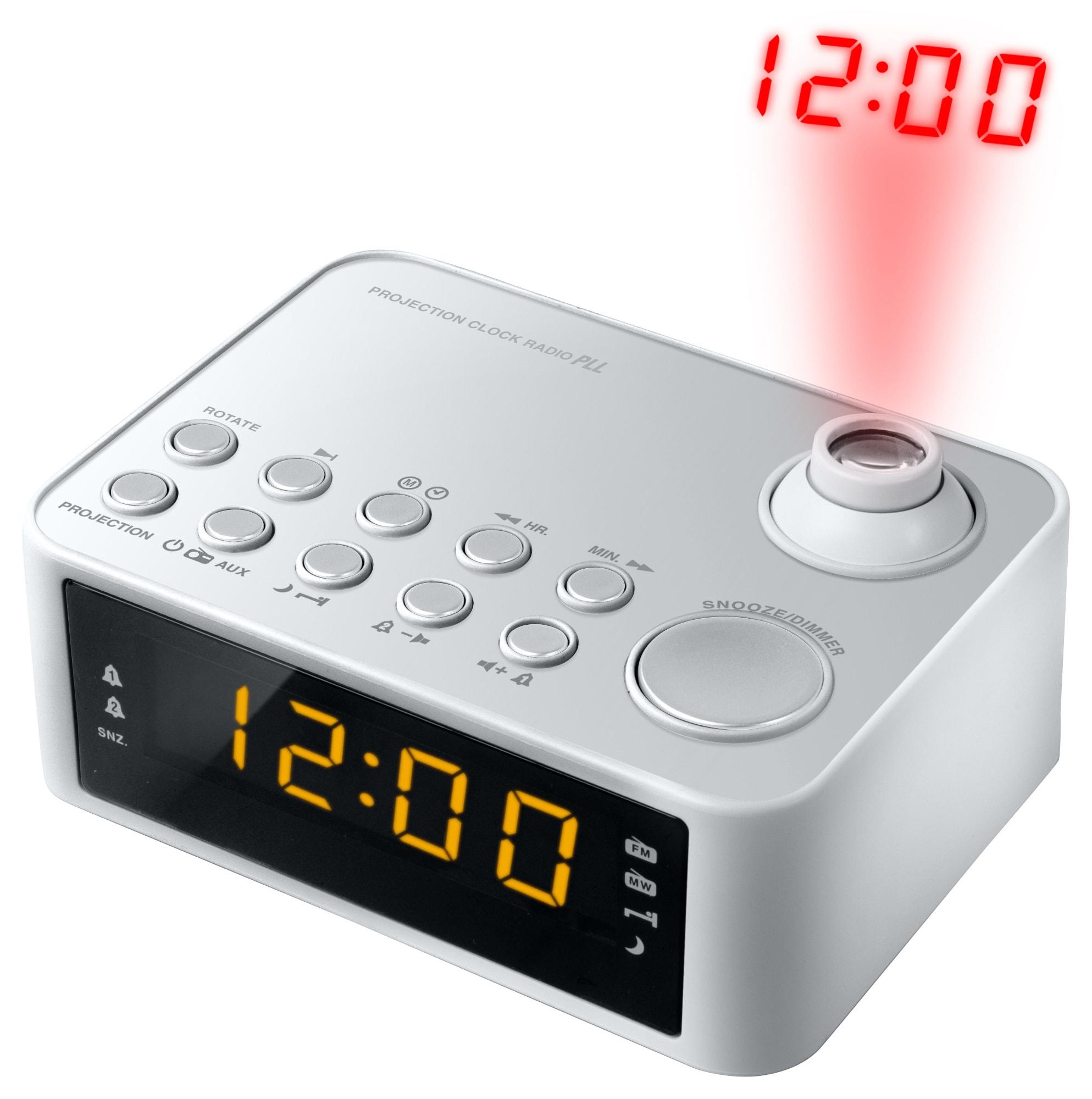 Clockradio med projektion - Grå