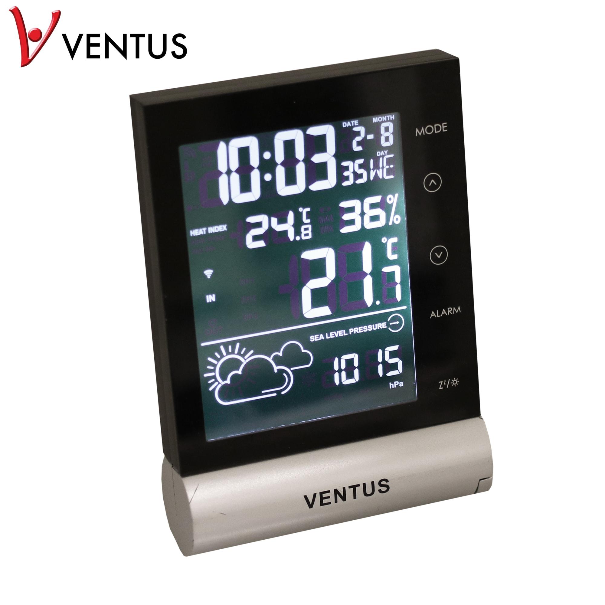 Viser den lokale vejrudsigt, temperaturen, luftfugtigheden m.m.