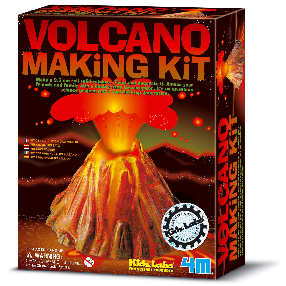 Lav dit eget vulkanudbrud med sprudlende, boblende lava