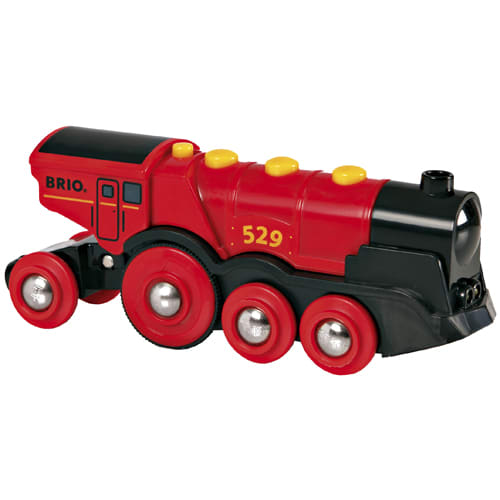 Flot damplokomotiv med lyd og lys