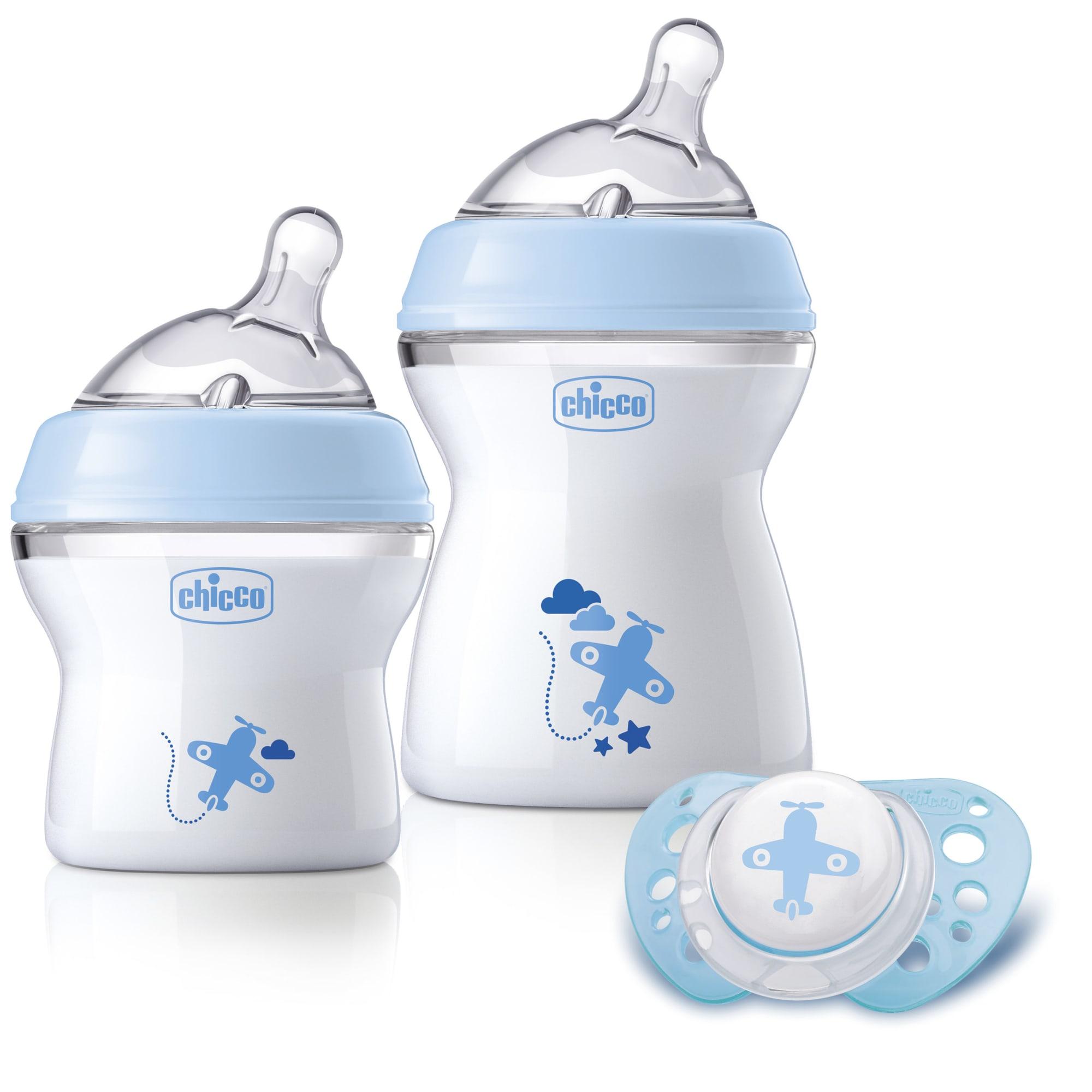 Inkl. To babyflasker og en silikone sut